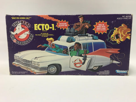 1984 Kenner The Real Ghostbusters Ecto-1 Complete In Box With Original Bag & Inserts