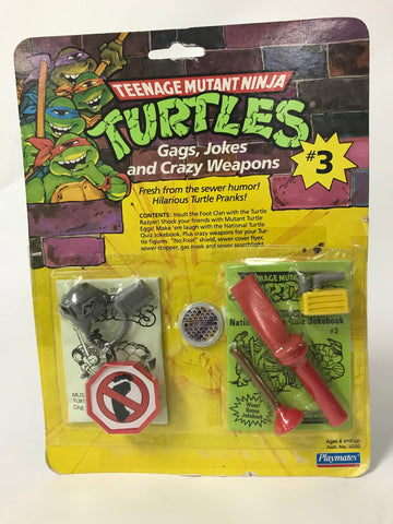 1988 Playmates Teenage Mutant Ninja Turtles TMNT Gags, Jokes and Crazy Weapons #3 MOC