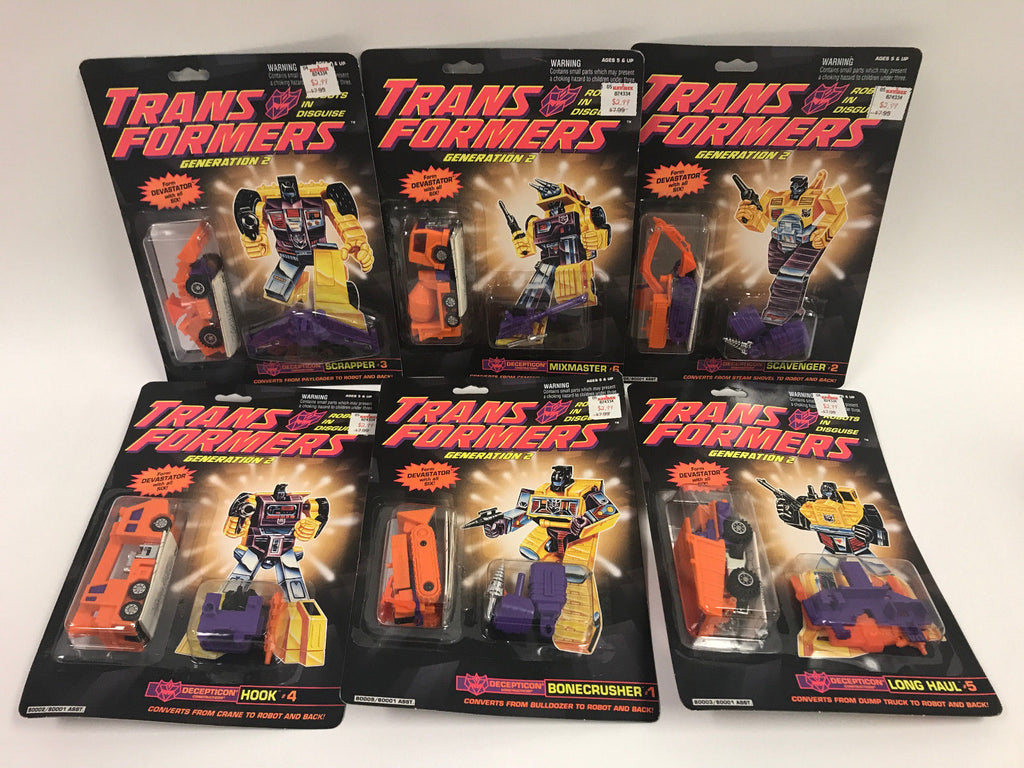 Vintage Hasbro Transformers G2 Constructicon Devastator Orange Complete - SEALED