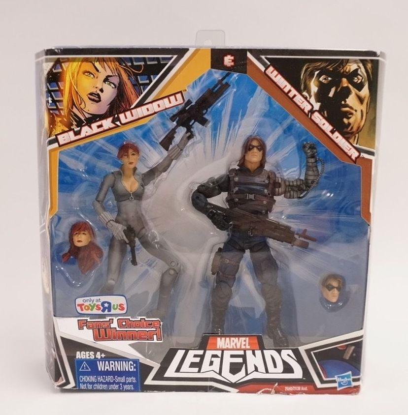 Marvel Legends Black Widow and Winter Soldier 2 pack Fan's Choice TRU Exclusive Marvel Comics
