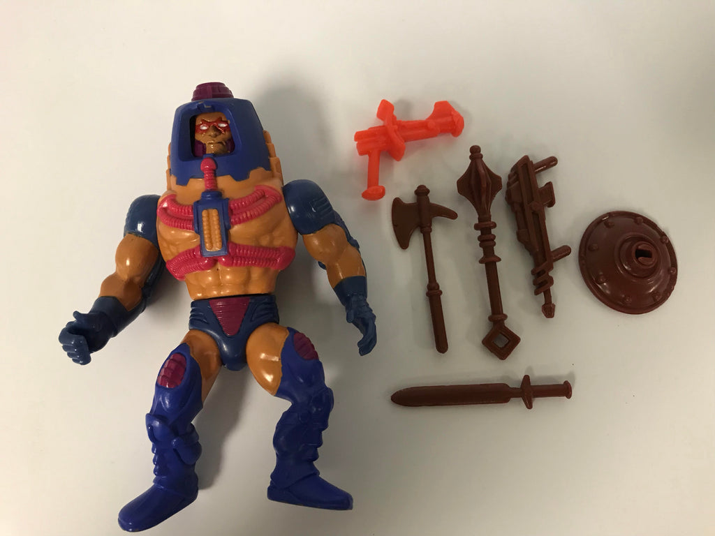 1983 Mattel He-Man & The Masters of the Universe Man E Faces (Wonder Bread He-Man Weapons Variant) Loose Complete