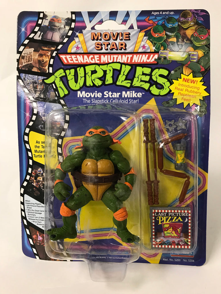 1991 Playmates Teenage Mutant Ninja Turtles TMNT Movie Star Mike Michaelangelo MOC