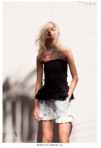 Marle Lomas skirt in Black magazine