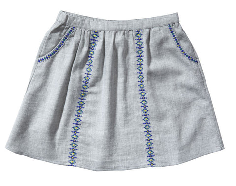 Babin embroidered skirt