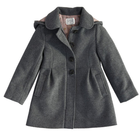 Alvada woollen coat with detachable hood
