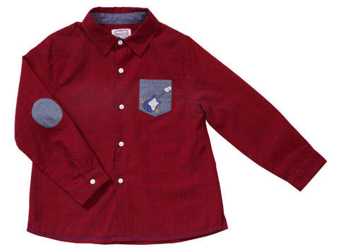 Jazzy shirt with embroidered pocket (4 years)