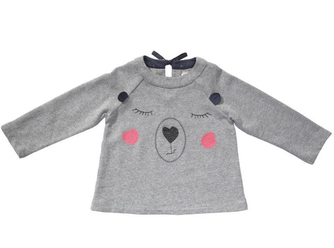 Kouki embroidered fleece sweatshirt