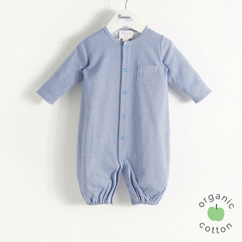 Bingo interchangeable organic playsuit to sleepbag