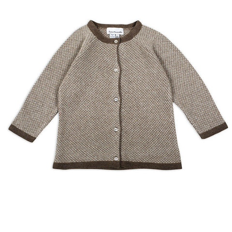 Full jacquard knit cardigan