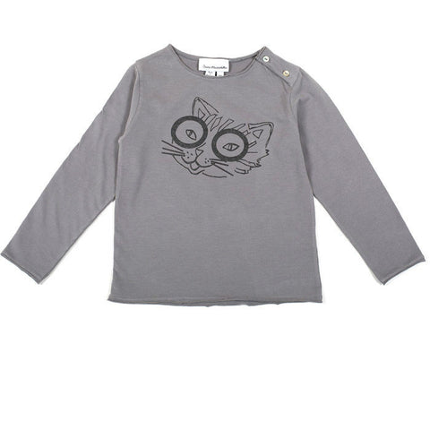 Cat tee with long sleeves