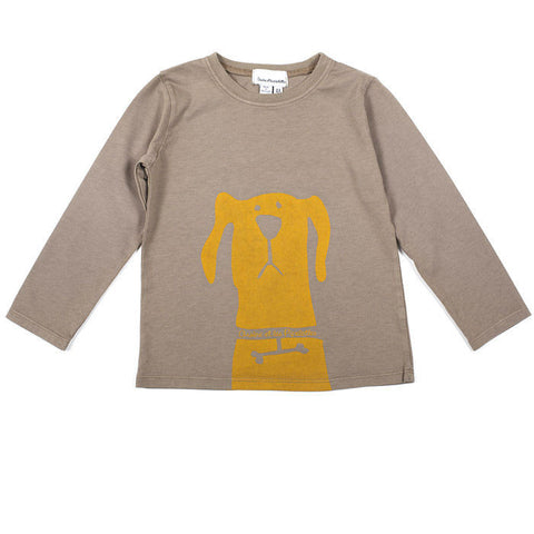 Dog tee with long sleeves