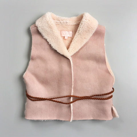 Sherpa vest in faux sheepskin