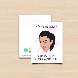 Pro & Hop Kim Crying Greeting Card