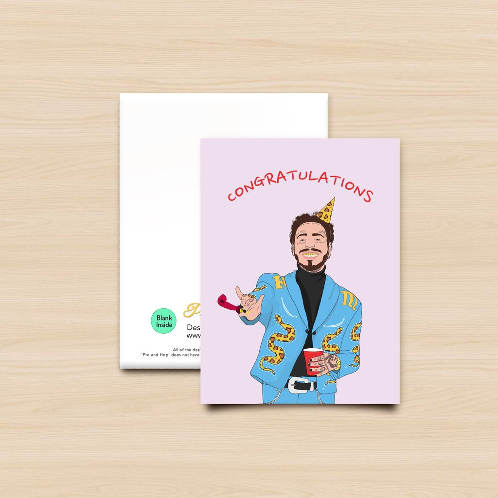 Pro & Hop Posty Greeting Card