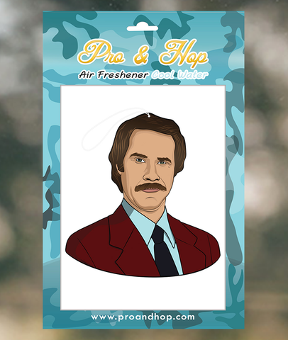 Pro & Hop Ron Burgundy Air Freshener