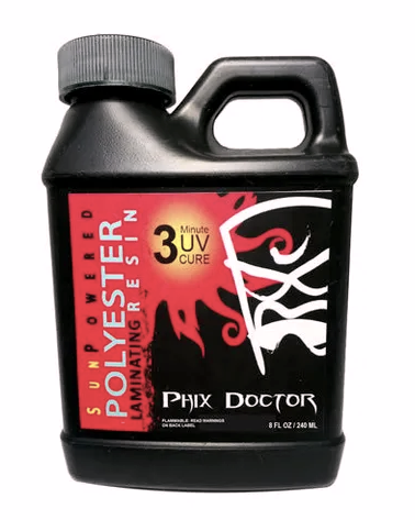 Phix Doctor Sunpowered Polyester Laminating Resin 1/2 Pint 240ml