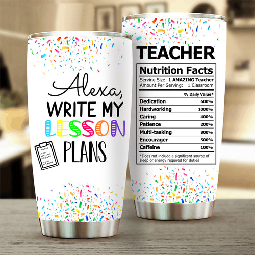 Write My Lesson Plans Stainless Steel Tumbler