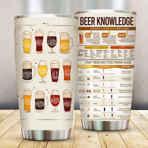 Beer Knowledge Stainless Steel Tumbler