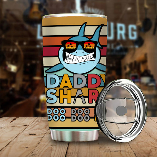 Daddy Shark Stainless Steel Tumbler