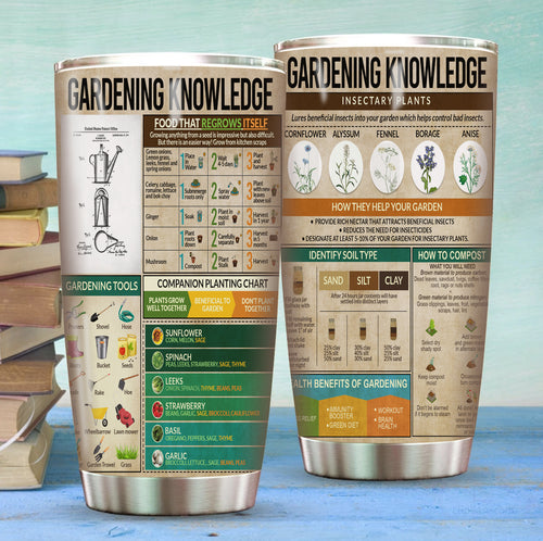 Gardening Knowledge Stainless Steel Tumbler