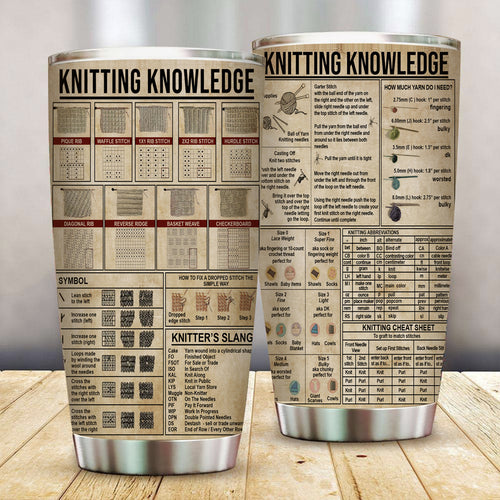 Knitting Knowledge Stainless Steel Tumbler