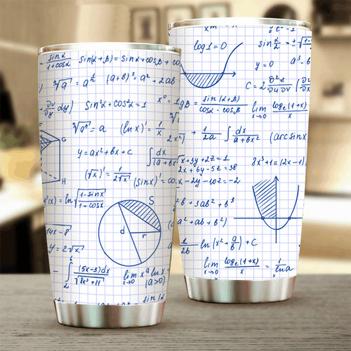 Graph Paper Math Problems Stainless Steel Tumbler