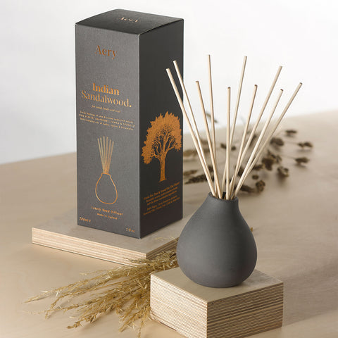 Indian Sandalwood Reed Diffuser - Black Clay