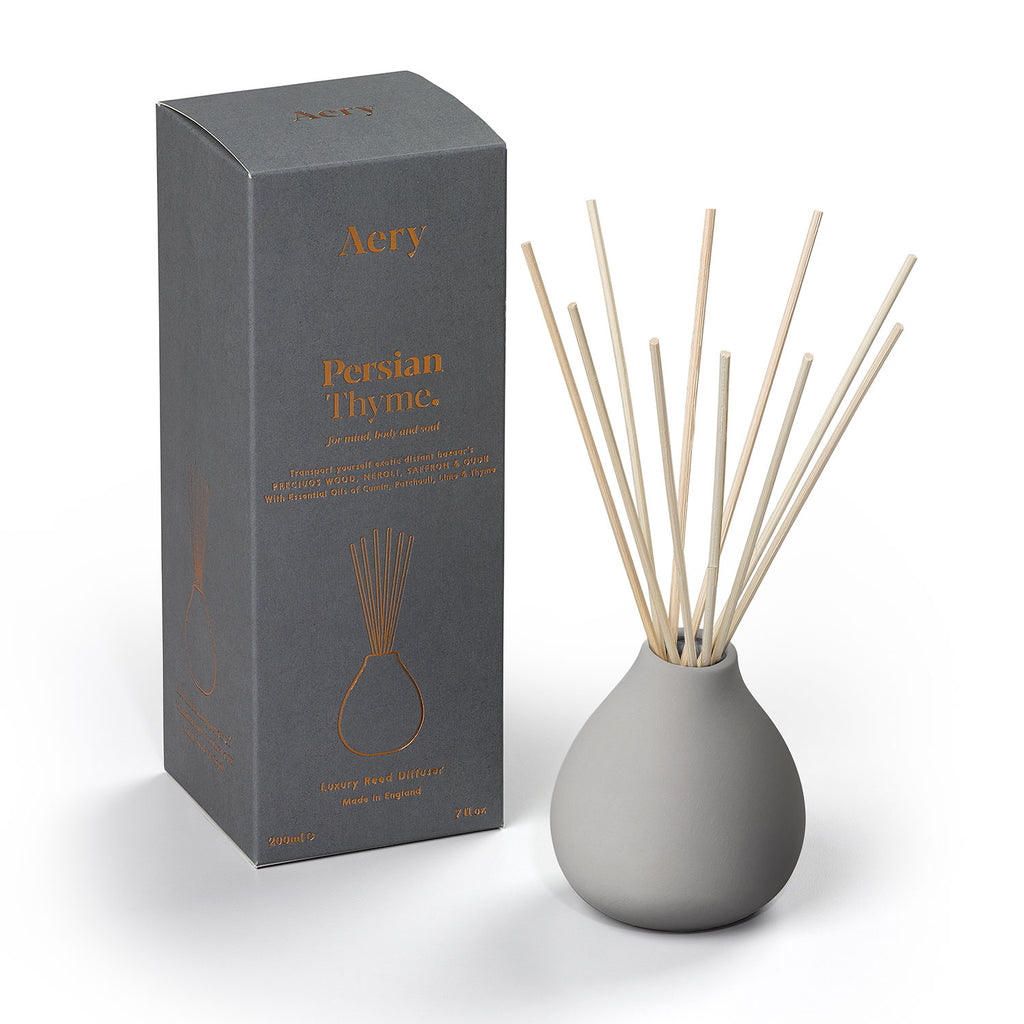 Persian Thyme Reed Diffuser - Light Grey Clay