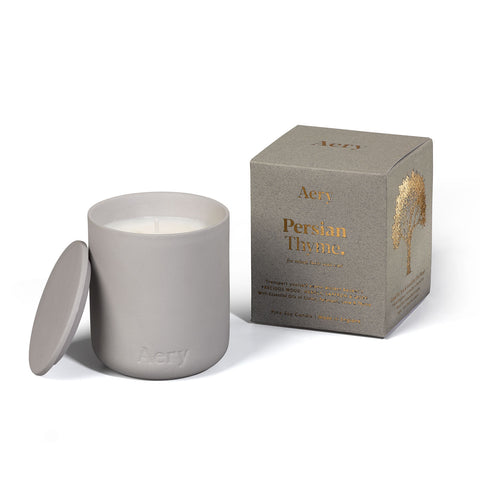 Persian Thyme - 230g Soy Candle - Grey Clay