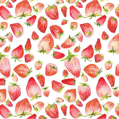 Gift Wrap Sheet - Strawberries