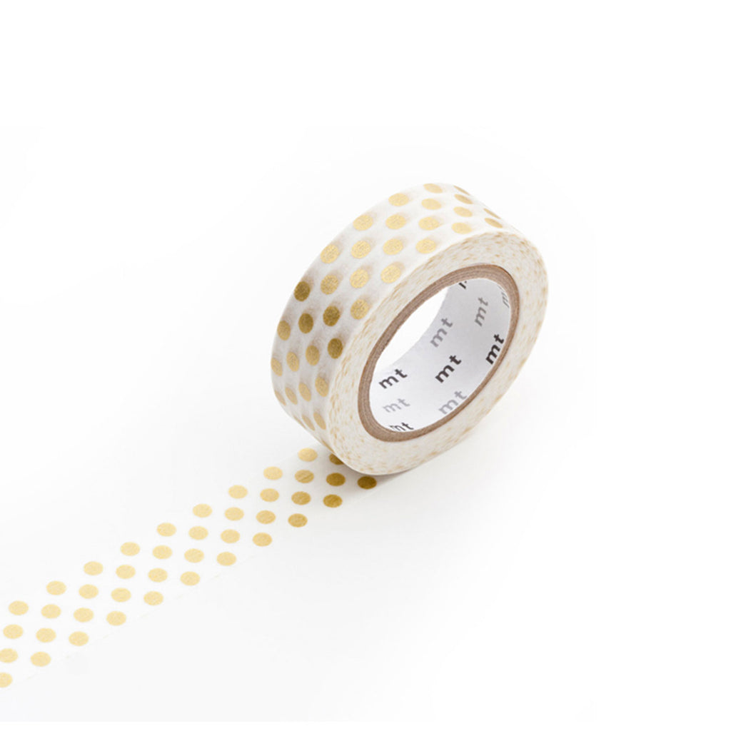 MT Washi Tape - Gold Dots