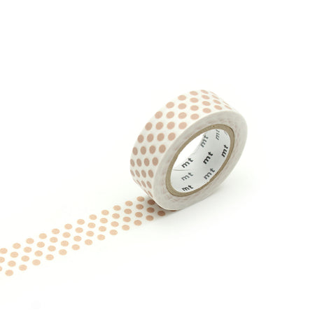 MT Washi Tape - Dot Milk Tea
