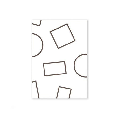 Pocket Layflat Weekly Planner - Black & White Shapes