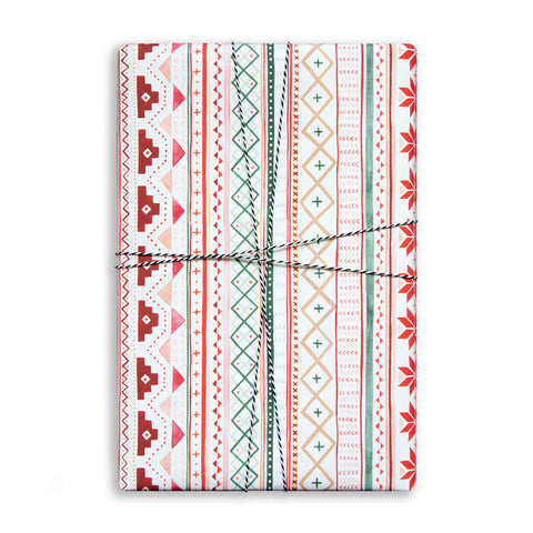 Gift Wrap Sheet - Fair Isle