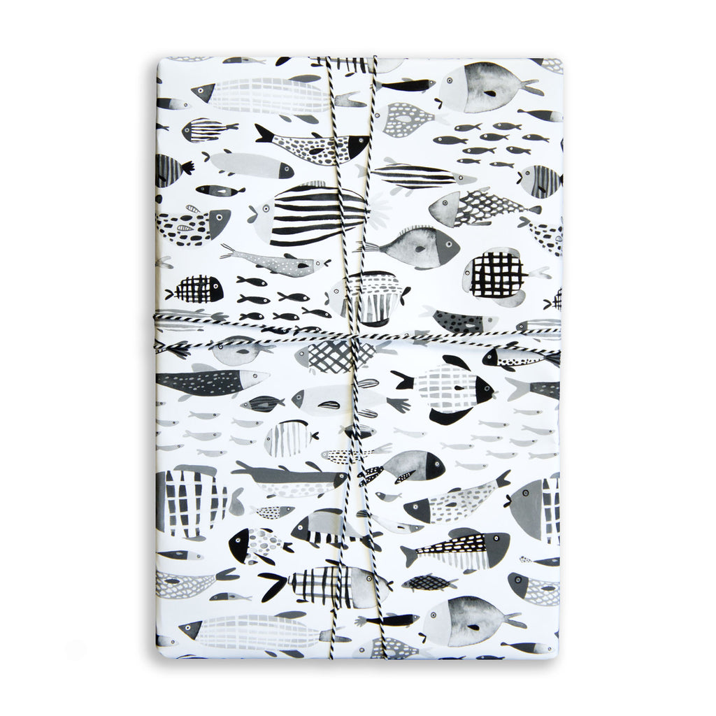 Gift Wrap Sheet - Freshwater Fish