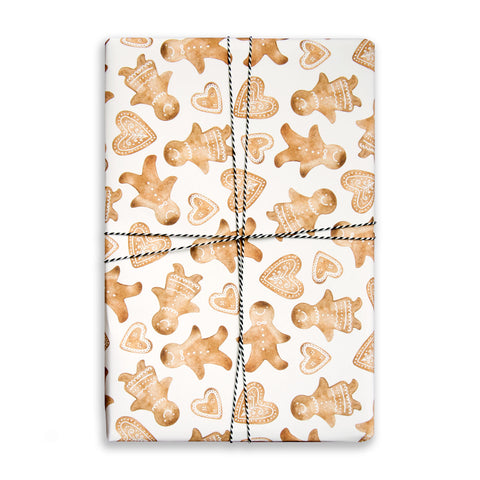 Gift Wrap Sheet - Gingerbread