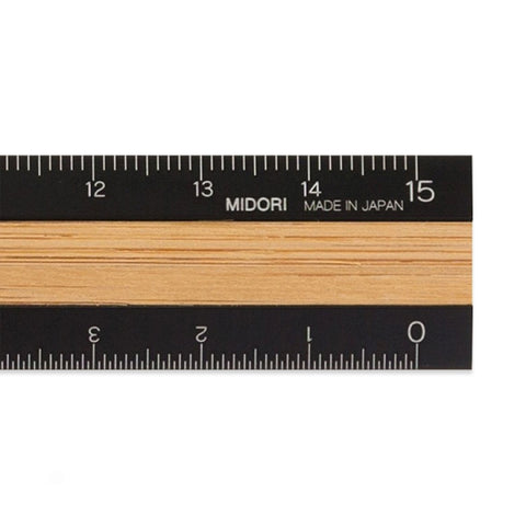 Wood Aluminium Ruler 15cm
