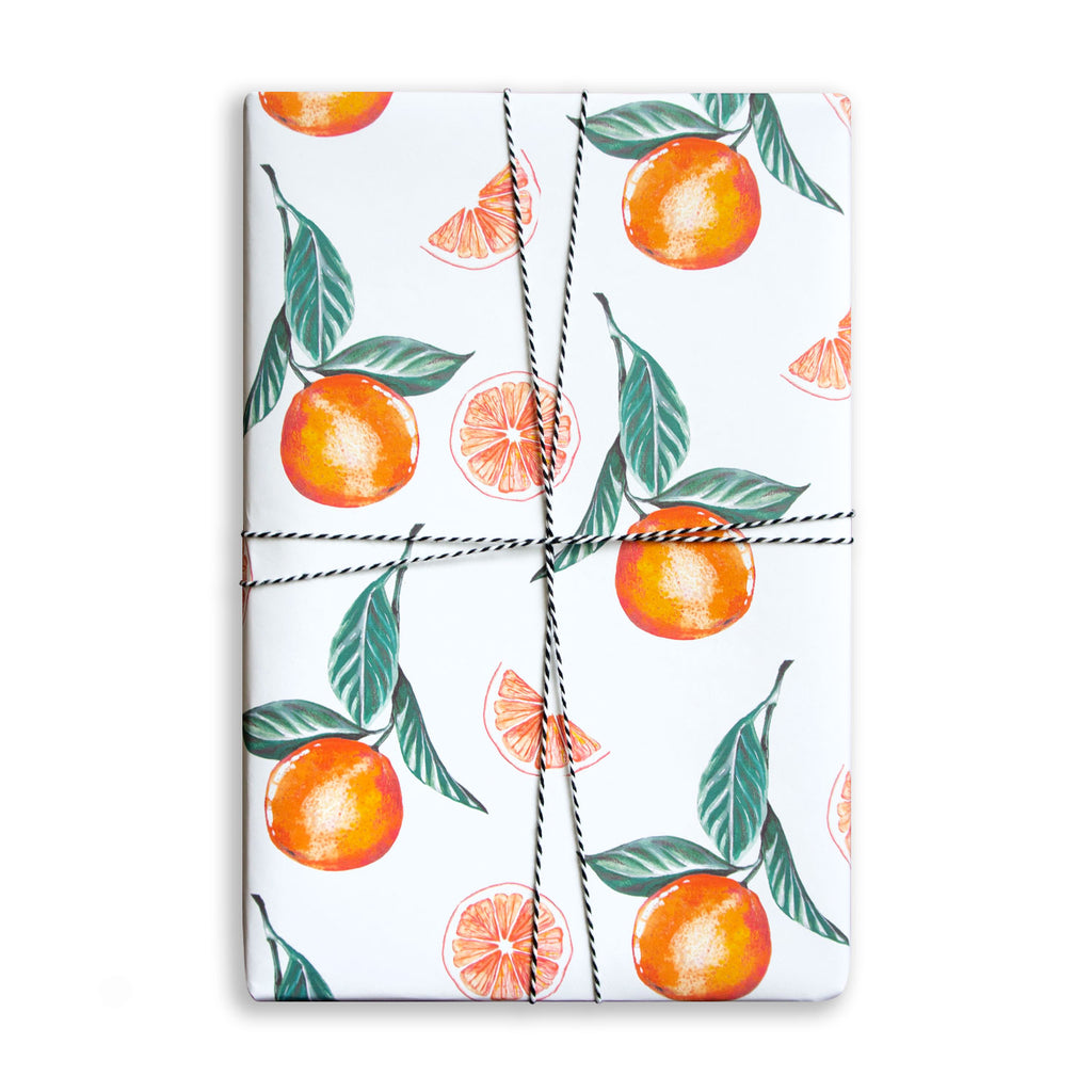 Gift Wrap Sheet - Oranges