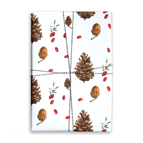 Gift Wrap Sheet - Pinecones