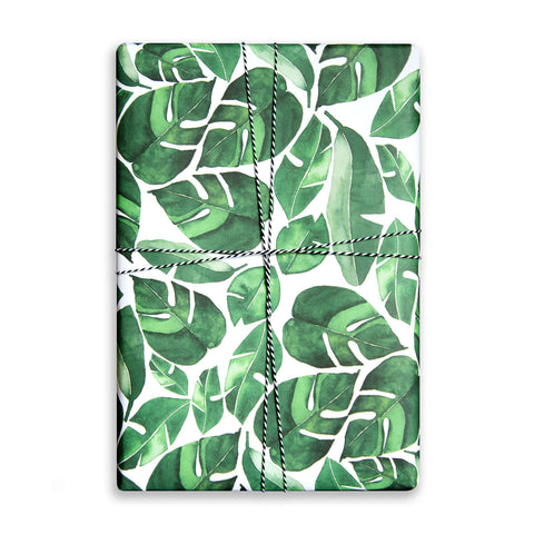 Gift Wrap Sheet - Tropical Leaves