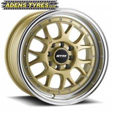 DTM F1D - GOLD / POLISHED LIP (x4) - AdensTyres.co.nz - Mags