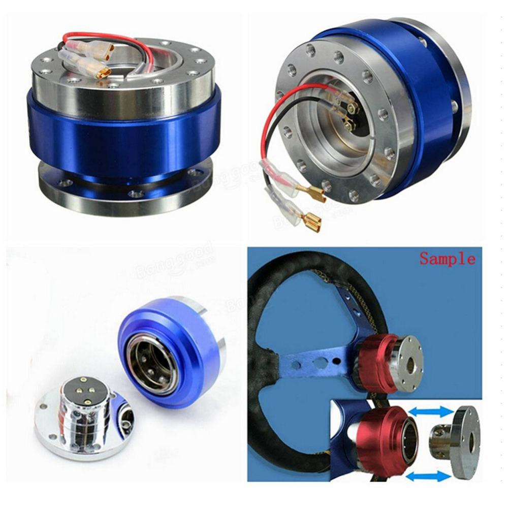 Universal Car Steering Wheel Quick Release Hub Adapter Snap Off Boss Kit