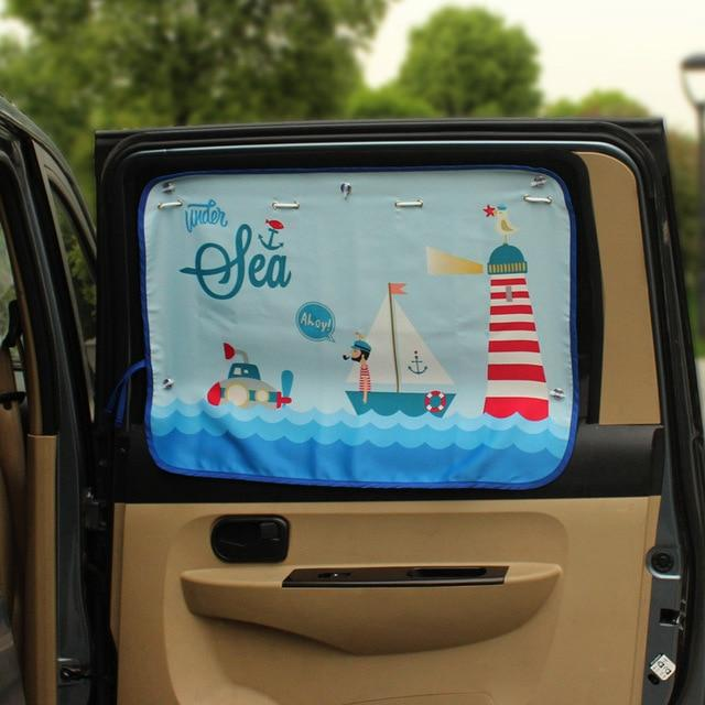70*50cm Car Cartoon Sunshade Curtain for Children