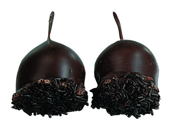 Whole Cerisettes - whole cherry in brandy in dark chocolate