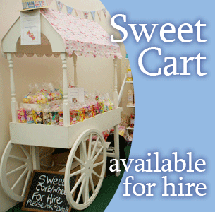 Sweet cart available for hire
