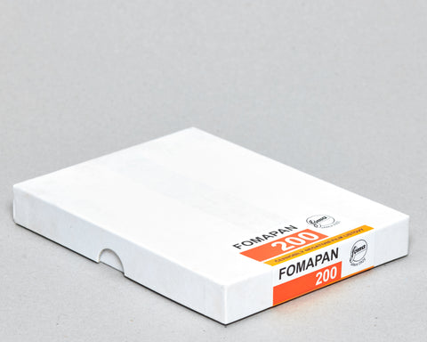Fomapan 200 - 5x4 Sheet Film - 50 Sheets