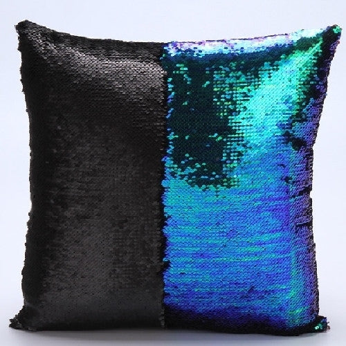 Reversible Mermaid Pillow Cover - Magical Color Changing