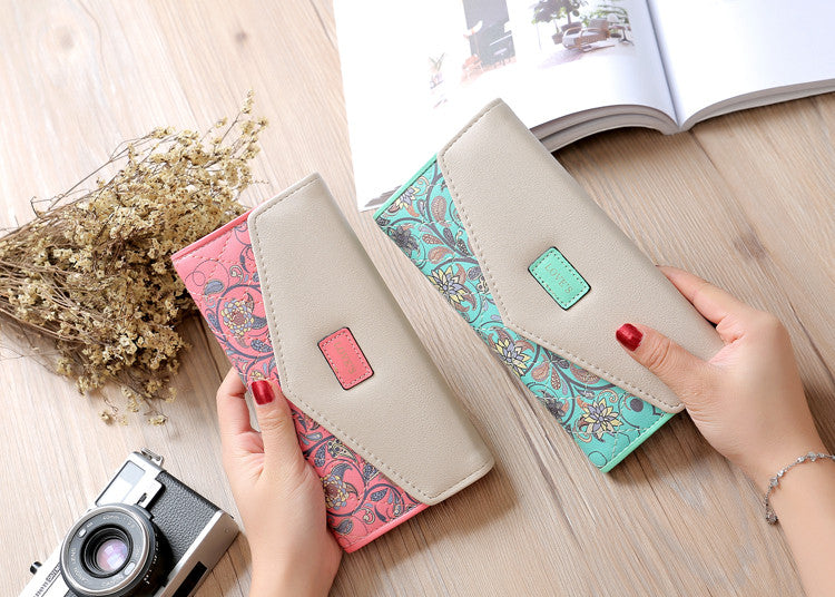 3 in 1 Women Traveling Wallet with Credit-card, Passport Holder and Mobile Phone Holder