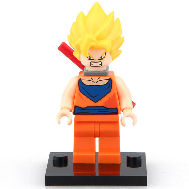 DRAGON BALL Vegeta Son or Goku Lego Figures