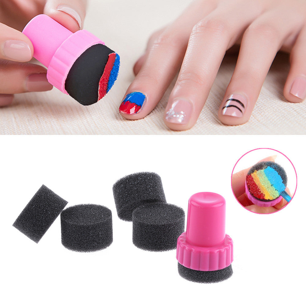DIY Nail Art Design Stamper + 4 Changeable Sponge